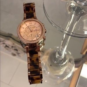 MK Rose Gold Tortoise Watch